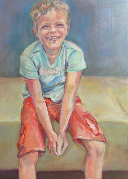 schilderij portret Lida Meines
