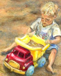 schilderij portret door Lida Meines