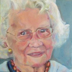 een portretschilderij in opdracht