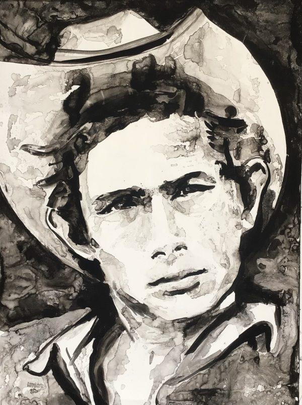 James Dean inkttekening 60x80cm Lida Meines