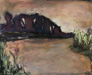 schilderij met avondrood Lida Meines