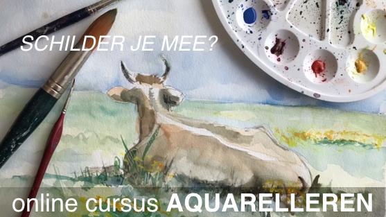 cursus aquarelleren online