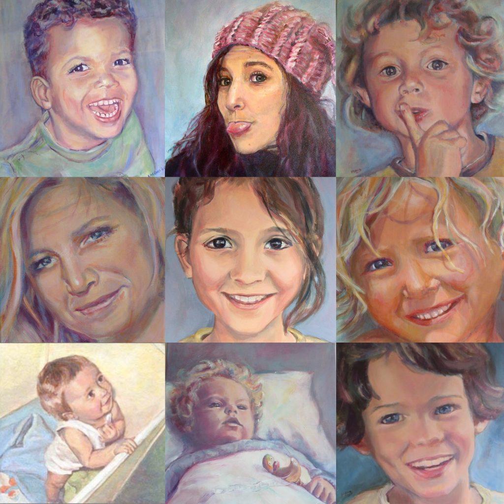 portretten schilderen in opdracht Lida Meines