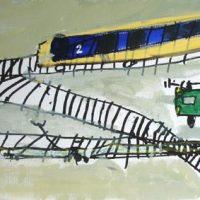 werk van deelnemer kinderfeestje schilderen Lida Meines