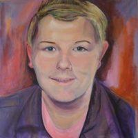 werk cursisten portretschilderen Lida Meines