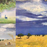 werk cursist korte schilderworkshop in Amersfoort LIDA MEINES